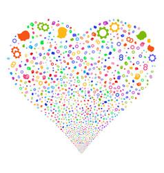 Intellect gears fireworks heart vector