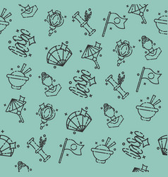 japan flat icons pattern vector image