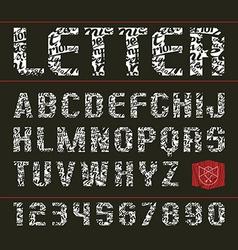 Sans serif decorative font vector image vector image