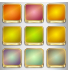 Set of Empty Buttons vector image vector image