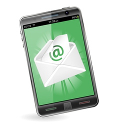 Smart Phone with e-mail vector image