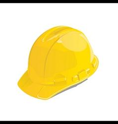 Yellow safety helmet vector image vector image