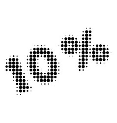 10 percents halftone dotted icon vector image