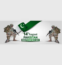 14th august background for happy independence vector