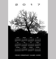 2017 Creative tree calendar vector