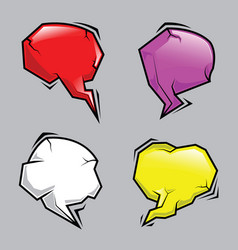 abstract stone cartoon speech bubbles set vector image