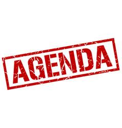 Agenda stamp vector