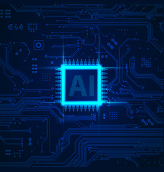 ai chip vector image