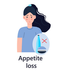 Appetite loss icon gastritis symptoms info vector