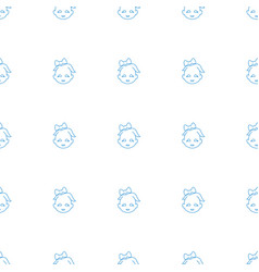 Baby girl icon pattern seamless white background vector