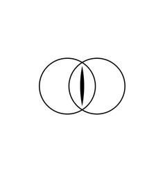 Beauty vagina concept abstract logo sign symbol vector
