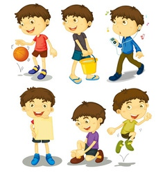 Boy poses vector image