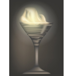 burn cocktail vector image