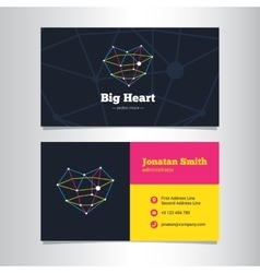 Business card template with line style vector