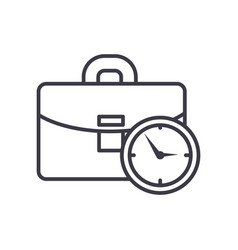 business case with time line icon sign vector image