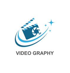Camera movie logo vector