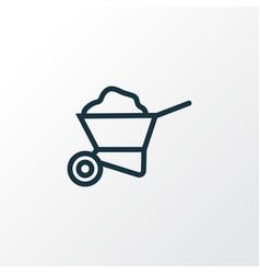 Carry cart outline symbol premium quality vector