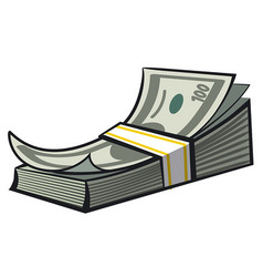 cash money stack vector image