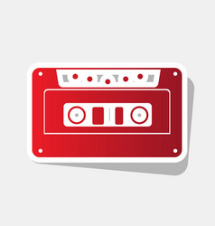 cassette icon audio tape sign new year vector image
