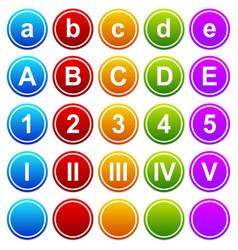 Categorization graphics vector