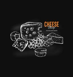 Cheese shop concept 1 vector
