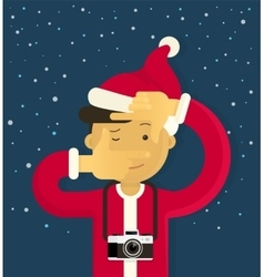 Christmas creative photographer vector image