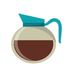 Coffee pot drink design vector