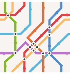 Color metro scheme seamless background vector image