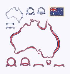 Colors australia vector
