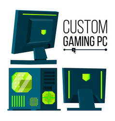 custom gaming pc modern custom build vector image