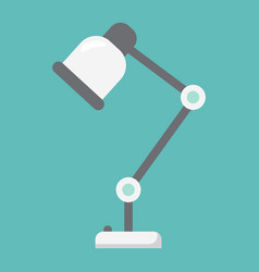 desk lamp flat icon table lamp and appliance vector image
