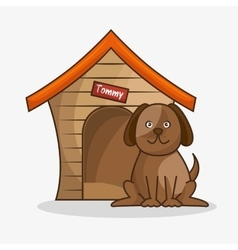 Dog pet shop icon vector
