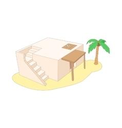 Egyptian house icon cartoon style vector