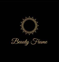 elegant and luxurious stylish gold frame vector image