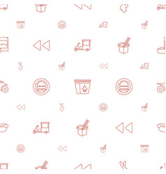 fast icons pattern seamless white background vector image