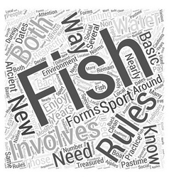 Fishing for beginners Word Cloud Concept vector