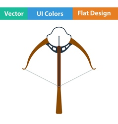 Flat design icon of crossbow vector