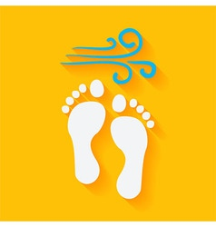 Flat Summer Footprints on the Beach vector image