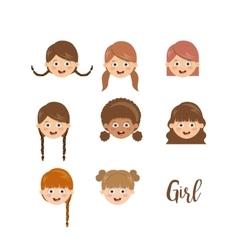 girl character design vector image
