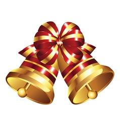 Golden Christmas Bell2 vector image