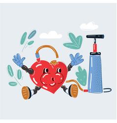 Heart under pressure vector