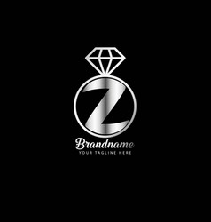 initial letter z luxury premium flourish perfume vector image