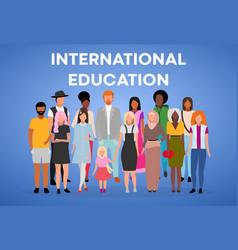 International education poster template vector