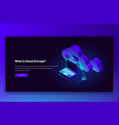 isometric cloud data vector image