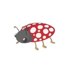 Ladybug icon cartoon style vector