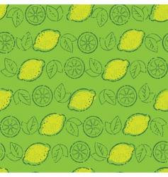 lemons pattern vector image