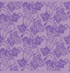 linear grapes seamless pattern background vector image
