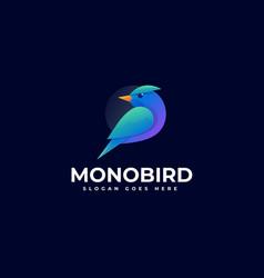 Logo monobird gradient colorful style vector