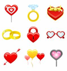love concept icons vector image