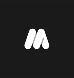 m letter logo icon vector image
